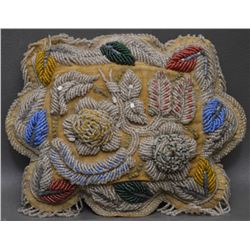 IROQUOIS INDIAN BEADED PILLOW