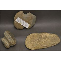THREE ANASAZI STONE TOOLS
