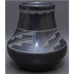 SAN ILDEFONSO INDIAN POTTERY VASE (DUNLAP)