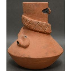 CHOCTAW INDIAN POTTERY VASE (ROBERT KANIATOBE)