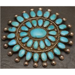 ZUNI INDIAN CLUSTER PIN