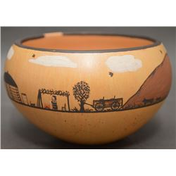NAVAJO INDIAN POTTERY BOWL (SAHMIE)
