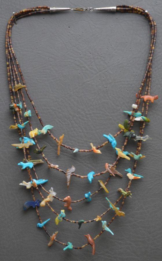 old Indian fetish necklace