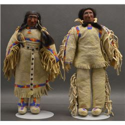 PAIR OF PLAINS INDIAN DOLL