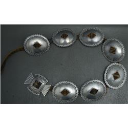 ANGLO STERLING SILVER CONCHO BELT (DON LUCAS)