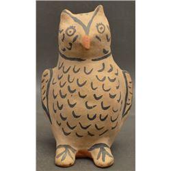 COCHITI INDIAN POTTERY OWL (ROMERIO)