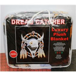 "NEW! ""DREAM CATCHER"" LUXURY PLUSH BLANKET (QUEEN)"