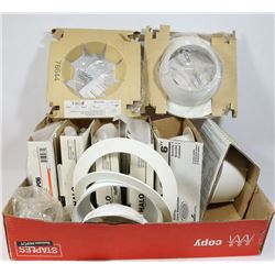 FLAT OF 9 HALO RECESSED LIGHTING.