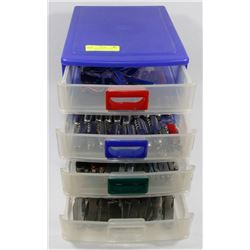 CASE WITH 100+ POCKET KNIVES AND MULTI TOOLS