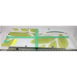 GREEN & WHITE GLASS LIGHT