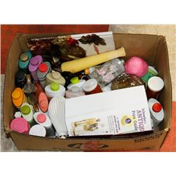 ESTATE BOX OF VINTAGE AVON ITEMS