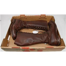 VINTAGE LEATHER MOUNTIE BOOTS