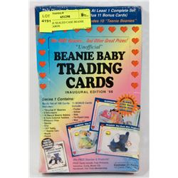 VINTAGE SEALED CASE BEANIE BABY CARDS