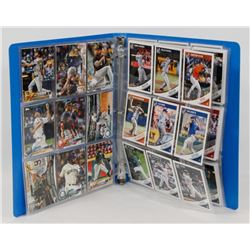 BINDER OF BASEBALL CARDS.