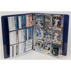 BINDER OF TORONTO BLUE JAYS & TOPPS PLATINUM