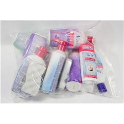 BAG OF ASSORTED NAIR PRODUCTS.