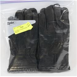 2PK MENS LEATHER GLOVES MEDIUM.