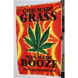 GOD MADE GRASS FLAG (3' X 5')