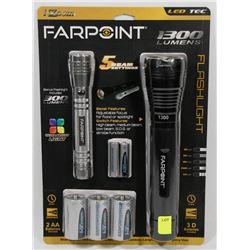 NEW! FARPOINT 1300 LUMENS LED FLASHLIGHT