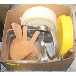 LOT OF ASSORTED KITCHEN MISCELLANEOUS: