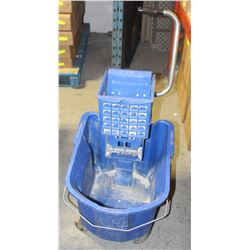 COMMERCIAL MOP BUCKET W/ WRINGER-BLUE