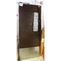 BROWN HEAVY DUTY DOOR