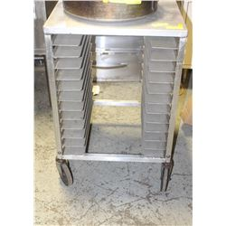 12-SLOT COMMERCIAL S/S UNDERCOUNTER COOLING RACK
