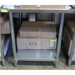 """STAINLESS WORK TABLE 30""""X36"""" NEW"""