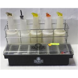 BAR CADDY CONDIMENT HOLDER AND PORTION BOTTLE RACK