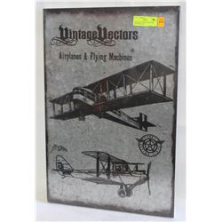 NEW METAL VINTAGE VECTOR AIRPLANES AND