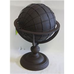 "NEW 12.5"" HIGH ALL METAL ACCENT GLOBE DECOR"