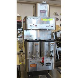 DUAL HEAD GRINDMASTER COFFEE MAKER W/ HOT WATER
