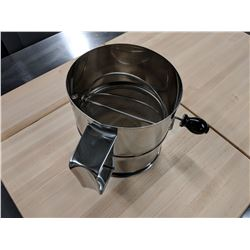 8 CUP STAINLESS STEEL ROTARY SIFTER