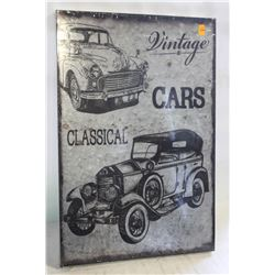 NEW METAL VINTAGE CLASSICAL CARS WALL DECOR