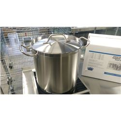 16QT HD STAINLESS STOCK POT INDUCTION CAPABLE