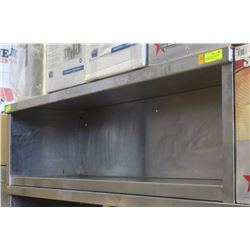 STAINLESS STEEL COMMERCIAL WALL MOUNT SHELF