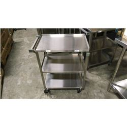 STAINLESS STEEL THREE TIER CART
