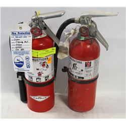 2 ABC 5LBS FIRE EXTINGUISHERS