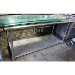 "72""X30"" STAINLESS STEEL WORK TABLE."