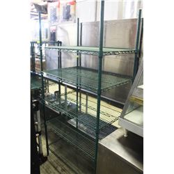 5-TIER GREEN WIRE COMMERCIAL STORAGE RACK