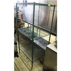 3-TIER GREEN-WIRE COMMERCIAL STORAGE RACK