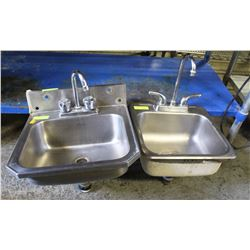 2 COMMERCIAL S/S PERSONAL RINSING SINKS