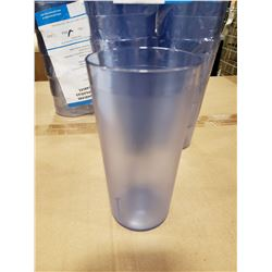 20OZ BLUE PLASTIC TUMBLERS - LOT OF 24