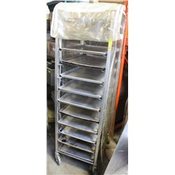 "TRAY RACK ON WHEELS WITH 12 - 18""X26"" BAKING"