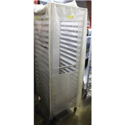 20 SLOT- COMMERCIAL ALUMINUM BAKERS RACK W/ COVER