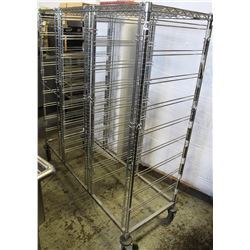 TRAY RACK ON WHEELS 5FT X 2FT X6FT HIGH.