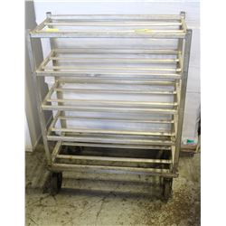 5-TIER BUSSING SERVICE CART W/ CASTORS