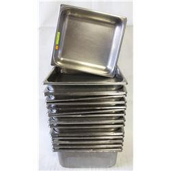 19 STAINLESS STEEL 2/3-SIZE INSERTS
