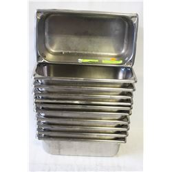 11 STAINLESS STEEL 1/3-SIZE INSERTS-3""