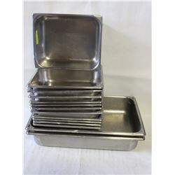12 STAINLESS STEEL 1/2-SIZE INSERTS-4""
